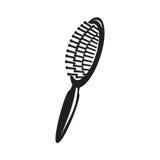 Icône de brosse de cheveux Photographie stock libre de droits