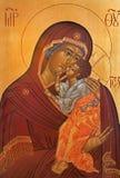 Icône de Bruges - de Madonna dans l'église de St Constanstine et d'orthodx de Helena (2007 - 2008) Photographie stock libre de droits