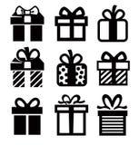 Icône de cadeau illustration stock