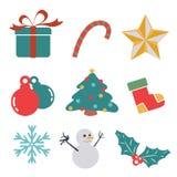 Icône de cadeau de Noël Image libre de droits