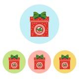 Icône de cadeau de Noël illustration stock
