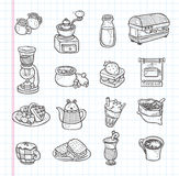 Icône de café de griffonnage Image libre de droits