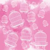Icône de cages à oiseaux Objet de décoration concept de vintage, graphique de vecteur Photographie stock libre de droits