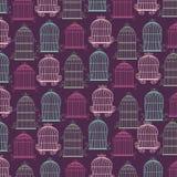 Icône de cages à oiseaux Objet de décoration concept de vintage, graphique de vecteur Photo libre de droits