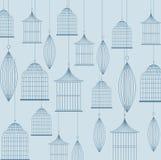 Icône de cages à oiseaux Objet de décoration concept de vintage, graphique de vecteur Image stock
