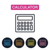 Icône de calcuator de vecteur Ligne mince simple icône pour le web design Photo libre de droits