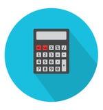 Icône de calculatrice dans le style plat à la mode Images libres de droits