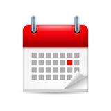Icône de calendrier Photographie stock libre de droits