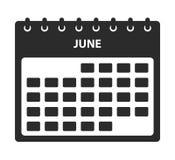 Ic?ne de calendrier de juin illustration libre de droits