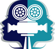Icône de cameraman illustration stock