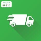 Icône de camion de livraison Bateau rapide de service de distribution de concept d'affaires Photo libre de droits