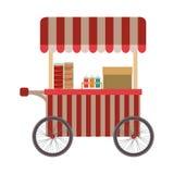 icône de camion de nourriture de hot-dogs Images stock