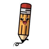 icône de caractère comique de crayon Photos libres de droits
