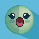 Icône de caractère d'émoticône de visage Images stock