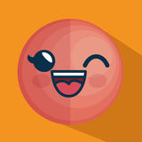 Icône de caractère d'émoticône de visage Photographie stock