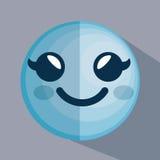 Icône de caractère d'émoticône de visage Image libre de droits