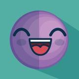 Icône de caractère d'émoticône de visage Photographie stock libre de droits