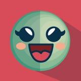 Icône de caractère d'émoticône de visage Images libres de droits