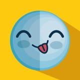 Icône de caractère d'émoticône de visage Photo stock