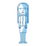 Icône de caractère d'avatar de femme d'affaires Image stock