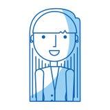 Icône de caractère d'avatar de femme d'affaires Images libres de droits