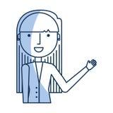Icône de caractère d'avatar de femme d'affaires Image libre de droits