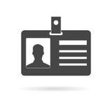 Icône de carte d'identification Photographie stock libre de droits
