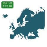 Icône de carte de l'Europe Pictogramme de l'Europe de concept de cartographie d'affaires illustration de vecteur