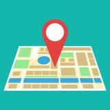 Icône de carte de navigation Photo stock