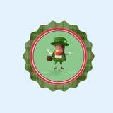 Icône de carte de Patrick Day Beer Festival Greeting de saint Photos libres de droits