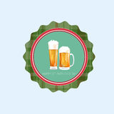 Icône de carte de Patrick Day Beer Festival Greeting de saint Images stock