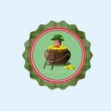 Icône de carte de Patrick Day Beer Festival Greeting de saint Photos stock