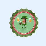 Icône de carte de Patrick Day Beer Festival Greeting de saint Photographie stock libre de droits