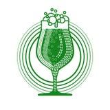 Icône de carte de voeux de Patrick Day Beer Festival Banner de saint Image libre de droits