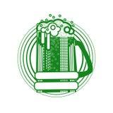 Icône de carte de voeux de Patrick Day Beer Festival Banner de saint Photographie stock