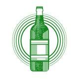 Icône de carte de voeux de Patrick Day Beer Festival Banner de saint Photos libres de droits