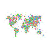 Icône de carte du monde Image stock
