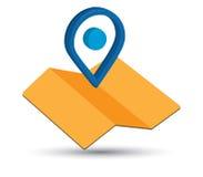 Icône de carte un 3D Pin Design Photographie stock libre de droits