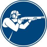 Icône de cercle de fusil de chasse de tir de piège Image stock