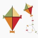 icône de cerf-volant Rétro couleur de vintage Conception plate Illustration de vecteur illustration libre de droits