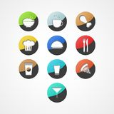 Icône de chaîne alimentaire Image stock