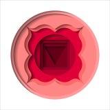 Icône de chakra de Muladhara Image libre de droits
