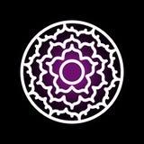 Icône de chakra de Sahasrara Image libre de droits