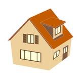 Icône de Chambre ou à la maison sur le fond blanc Vecteur Photo libre de droits