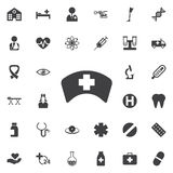 Icône de chapeau d'infirmière illustration de vecteur