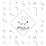 Icône de chapeau de chefs Conception de nourriture et de menu Dessin de vecteur Images stock
