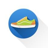 Icône de chaussure de sport Photographie stock