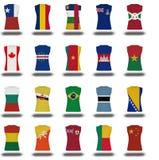 icône de chemise de drapeau des ressortissants sur la partie blanche 2/10 de fond Photo libre de droits