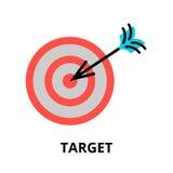 Icône de cible d'affaires, pour le graphique et le web design Photos stock