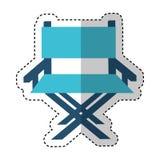 Icône de cinéma de chaise de directeur Image stock